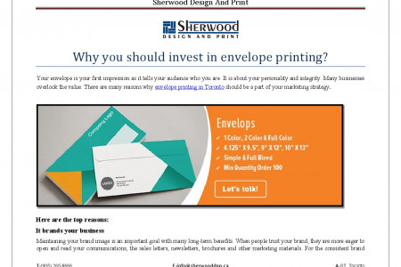 Why you should invest in envelope printing? Infographic