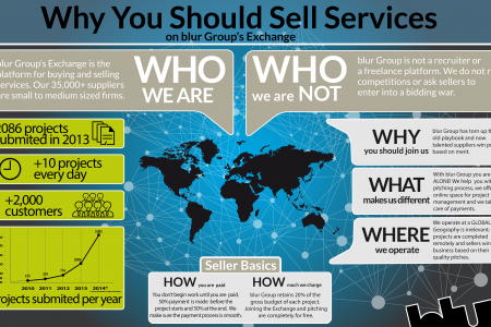 Why You Should Sell Services on blur Group Infographic