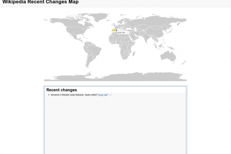 Wikipedia Recent Changes Map Infographic