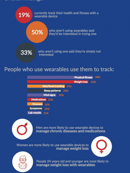 Wearable Healthcare Devices: Are the Big Players Trending? Infographic