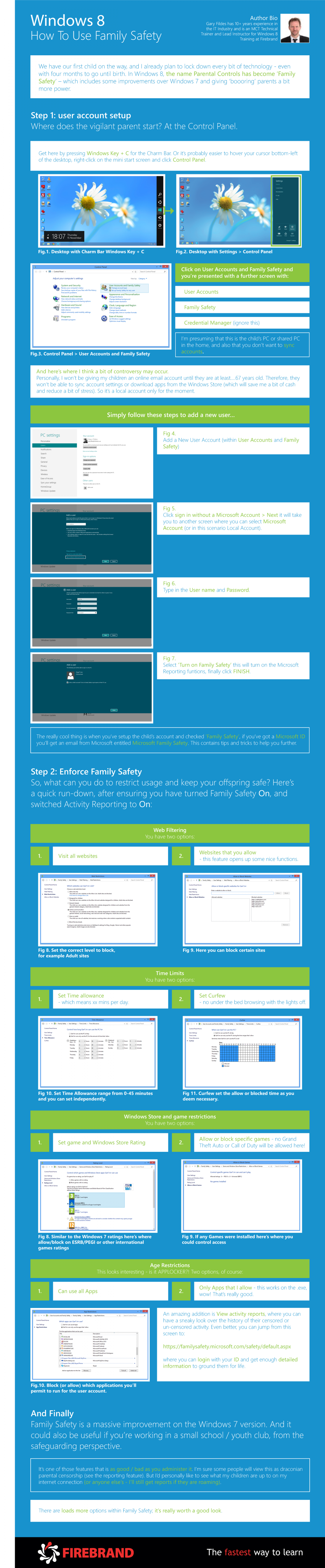 Windows 8 - How to use family safety Infographic