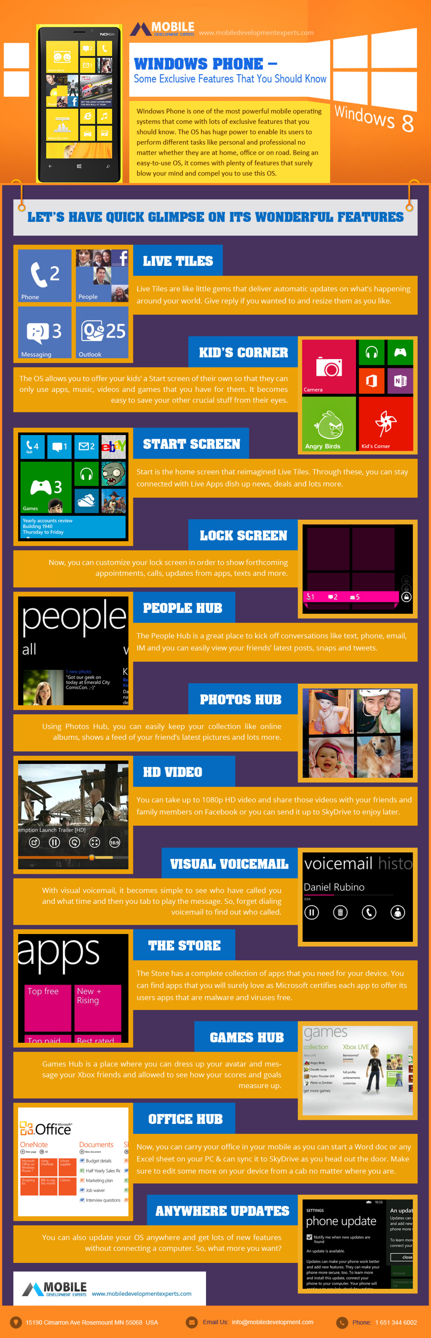 Windows Phone - Some Exclusive Features That You Should Know Infographic