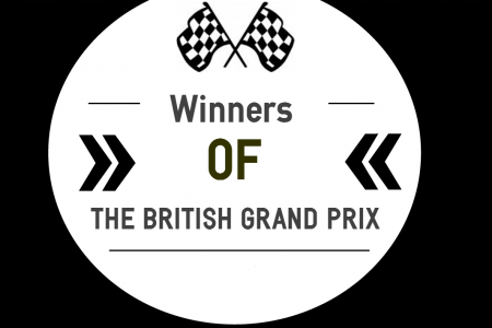 Winners of the British Grand Prix Infographic
