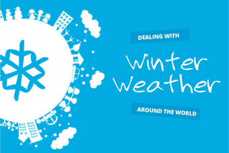 Winter Weather Around the World Infographic