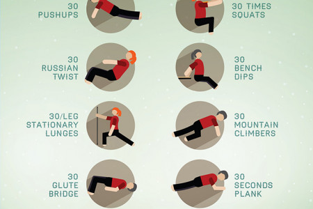 Winter Wonder Body Workout Infographic