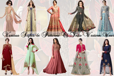 Woman's Designer Indian Indo Western Gown Dresses & Kurtis Styles of 2018 Infographic