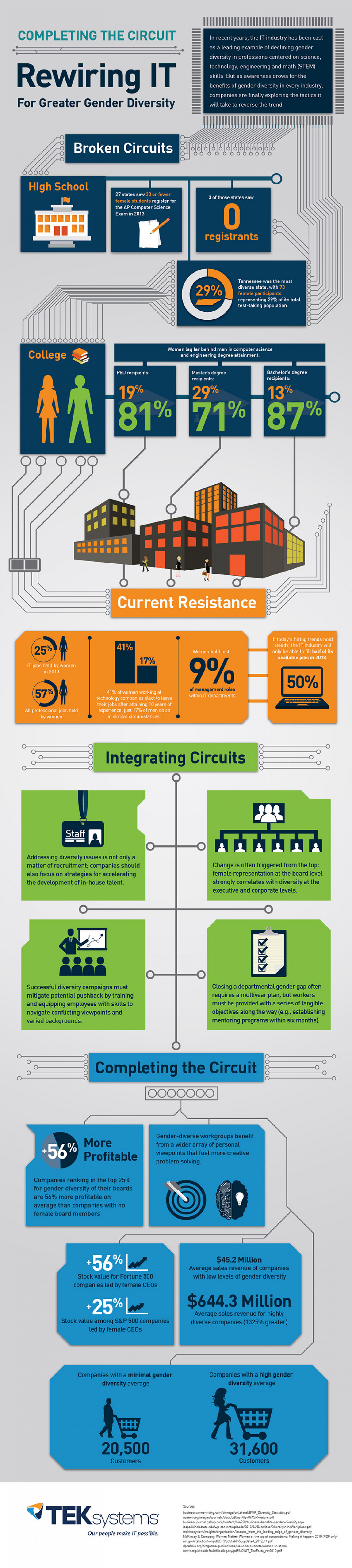 Women in the IT Industry Infographic