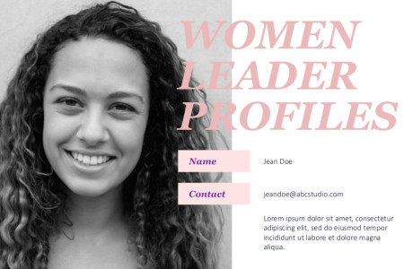 Women Leadership Powerpoint Template | Free Download Infographic