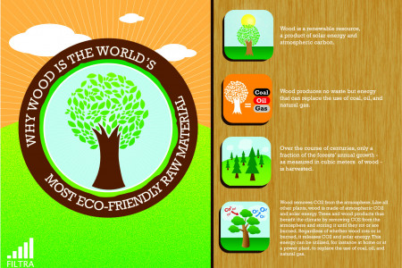 Wood is the World's Most Eco-Friendly Raw Material Infographic
