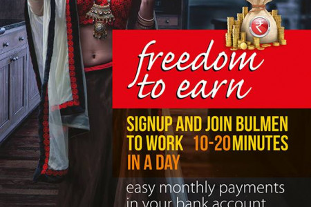 Work on paid surveys and paid to click to earn money from home. Infographic