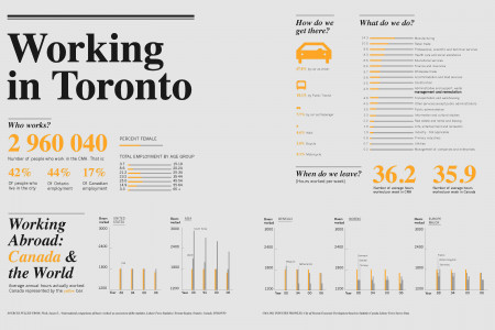 Working In Toronto Infographic