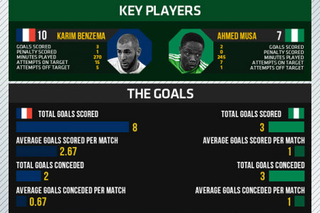 World Cup 2014 - Round of 16 - France vs Nigeria Infographic