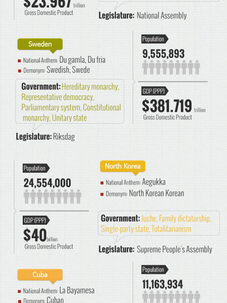 Socialistic Countries in the World Infographic