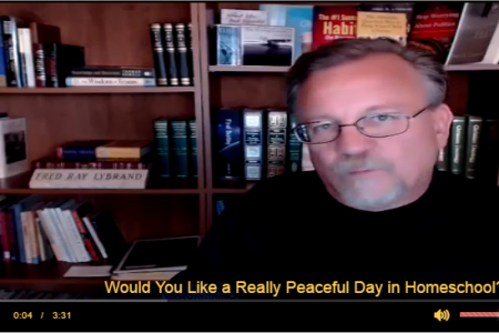 Would You Like a Really Peaceful Day in Homeschool? Infographic