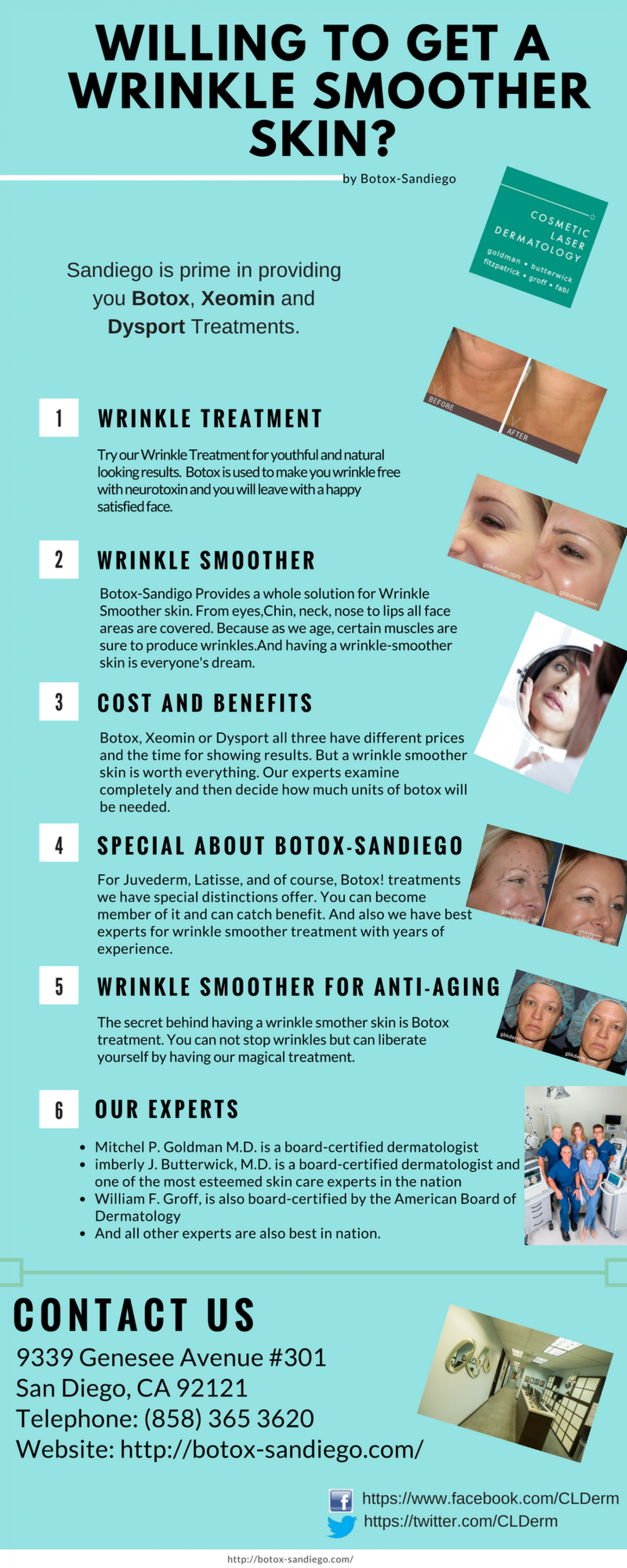 Wrinkle smoother Infographic
