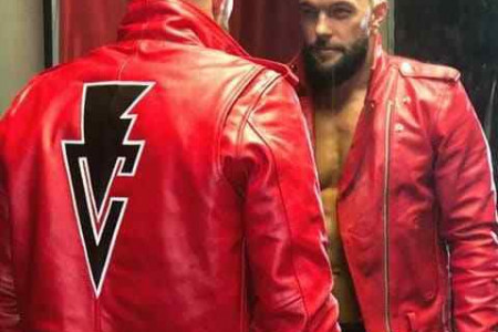 WWE Finn Balor Red Leather Jacket Infographic