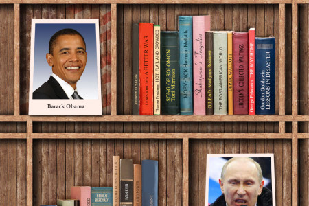 You Are What You Read: Bookshelves of Famous People Infographic