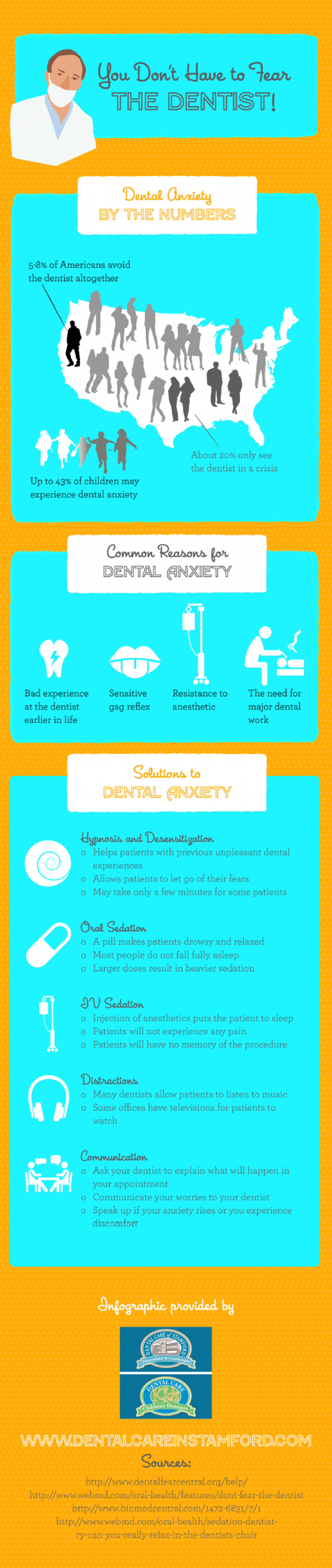 You Don't Have to Fear the Dentist! Infographic