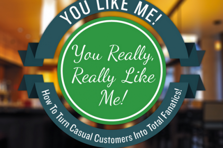 You Like Me! You Really, Really Like Me! How to Turn Casual Customers into Raving Fanatics Infographic