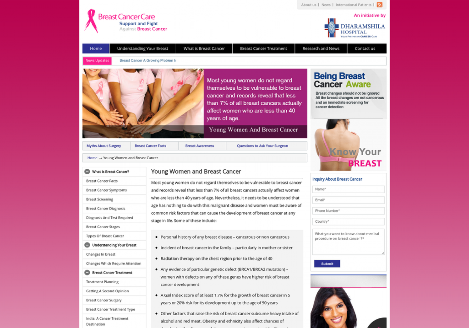 Young Women and Breast Cancer Infographic