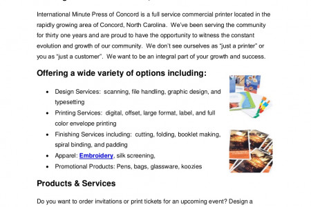 Your Solution to All Your Printing Needs Infographic