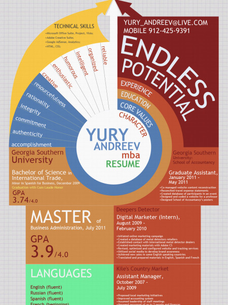 Yury Andreev Resume MBA Infographic