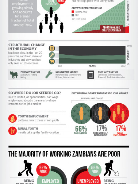 Zambia's Jobs Challenge Visualised Infographic