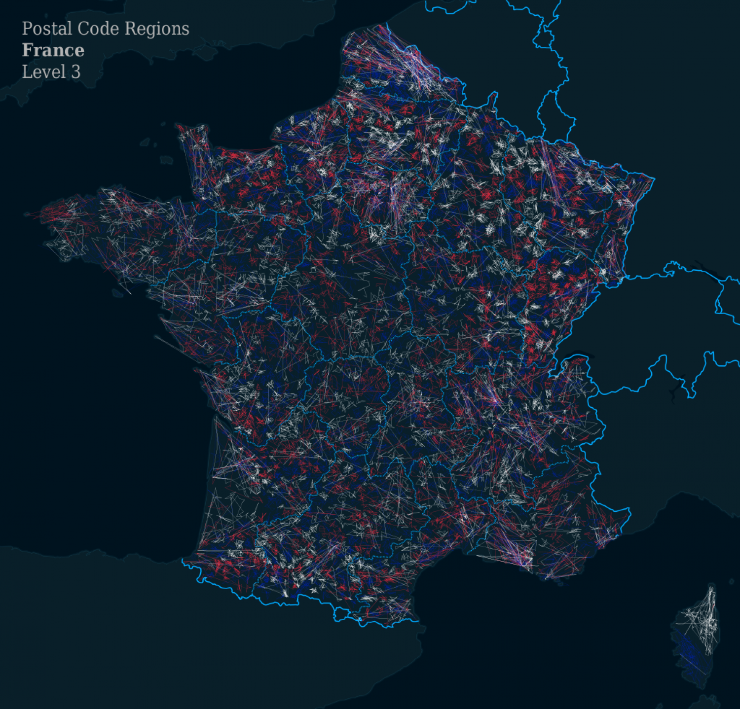ZIPScribble Map France Level 3 Infographic