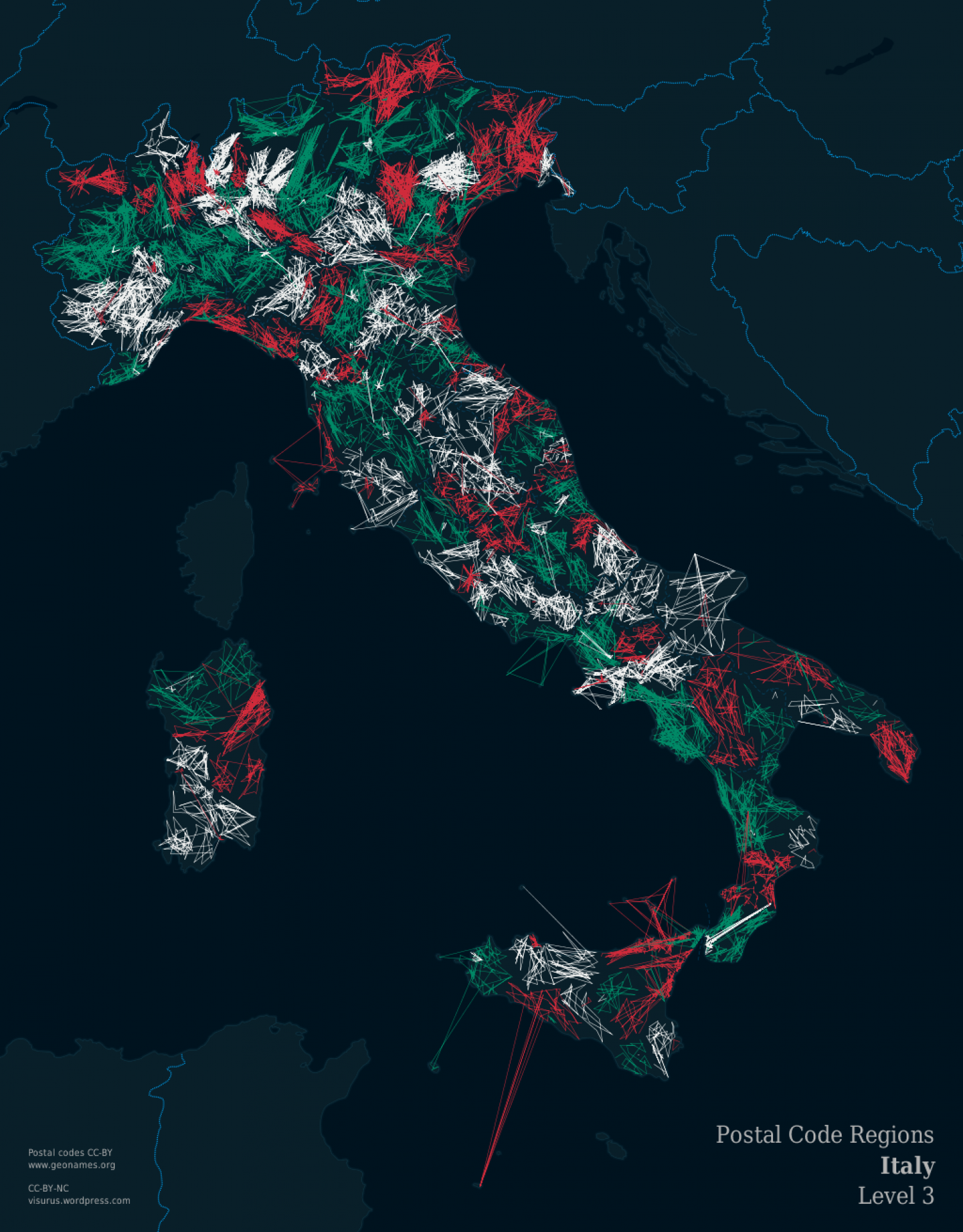 ZIPScribble Map Italy Level 3 Infographic