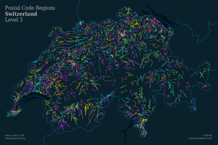 ZIPScribble Map Switzerland Level 3 Infographic