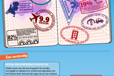 Zonvakantie Infographic (Dutch) Infographic