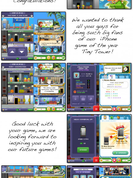 Zynga's Dream Heights Ready to Build Tiny Towers on App Store Infographic