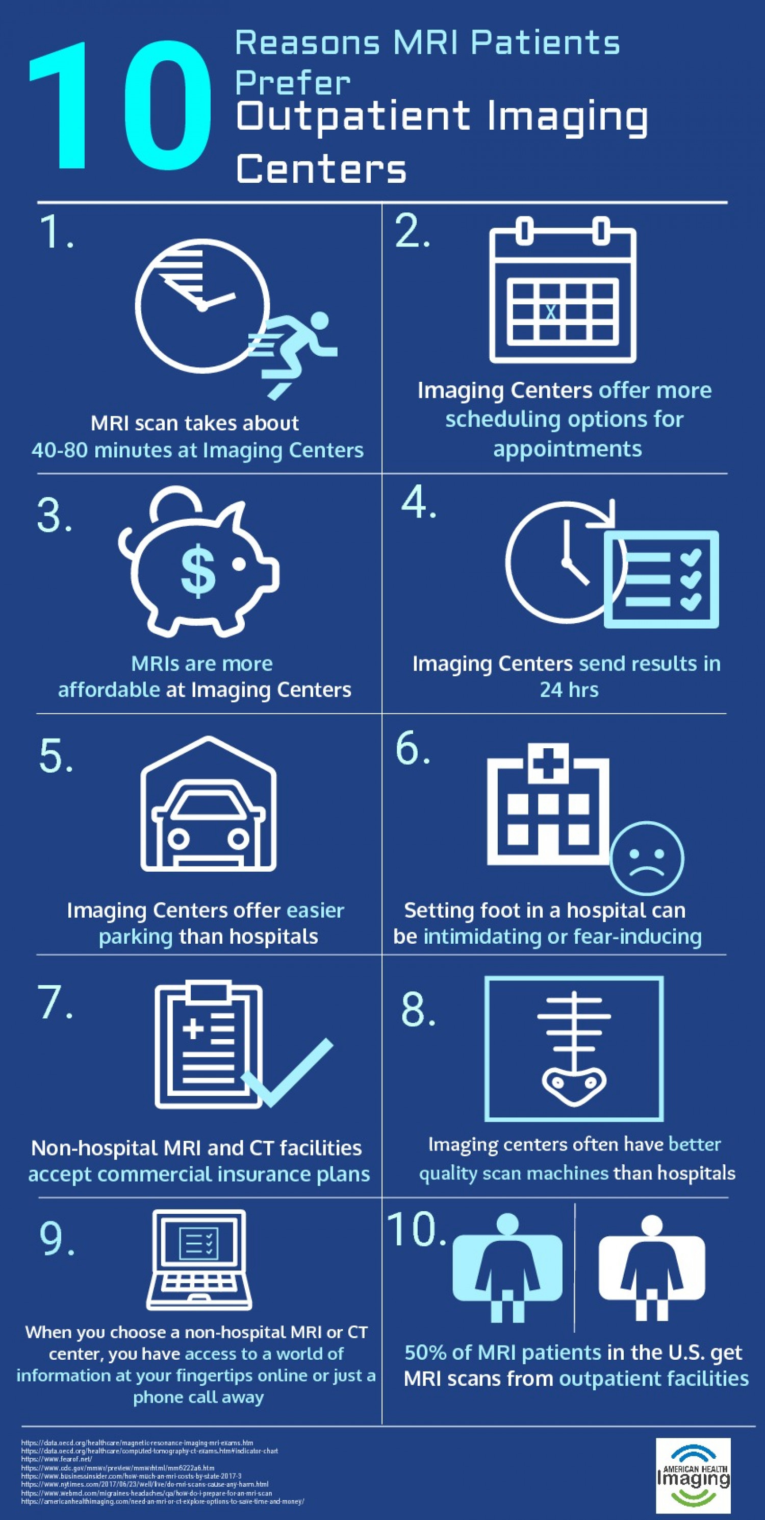 10 Reasons Out Patients Prefer MRI Infographic