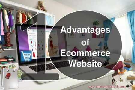 10 Advantages of Ecommerce Website Infographic