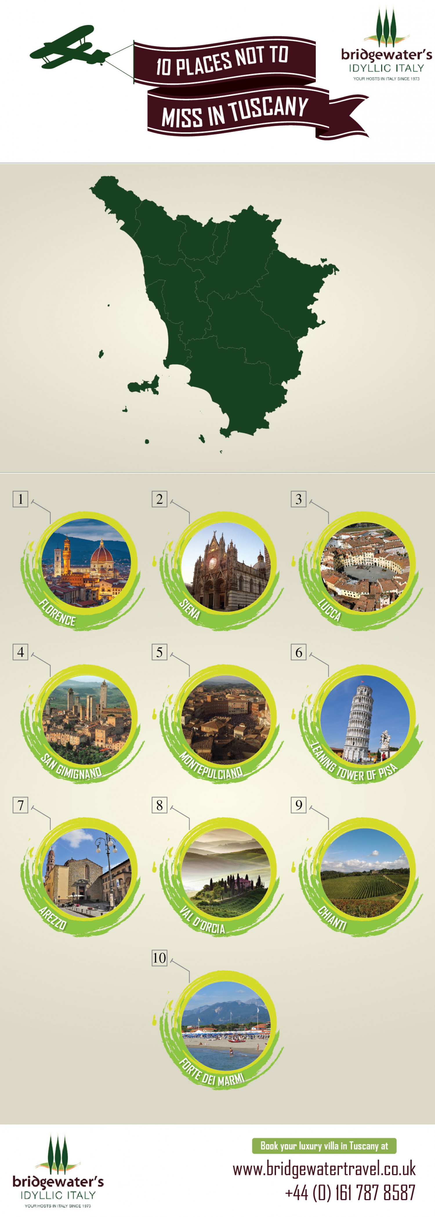 10 Amazing Places to Visit in Tuscany Infographic