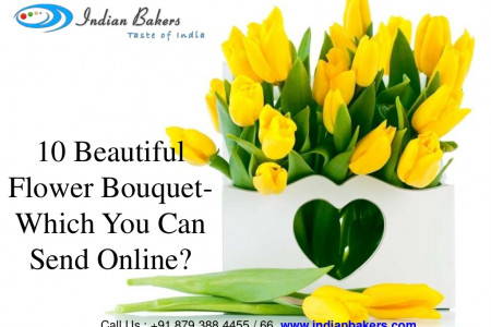 10 Beautiful Flower Bouquet Which You Can Send Online Infographic