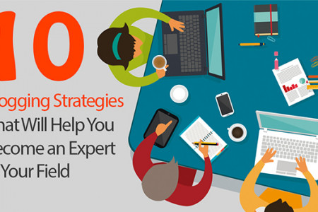 10 Blogging Strategies To Help You Become An Expert In Your Field Infographic