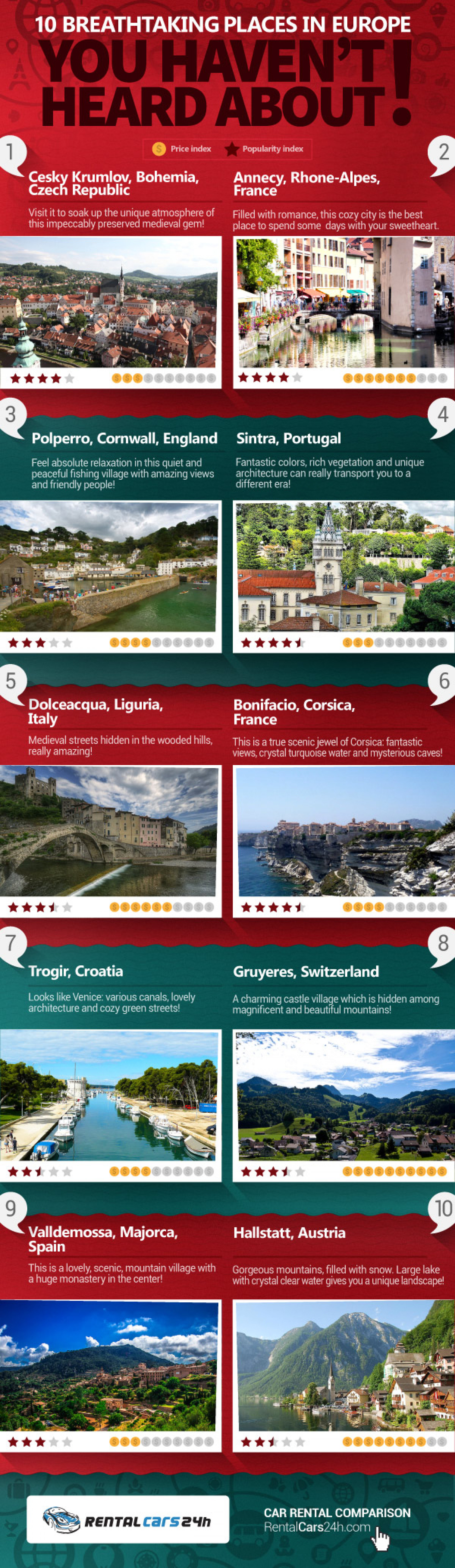 10 Breathtaking Places in Europe You Haven't Heard About! Infographic