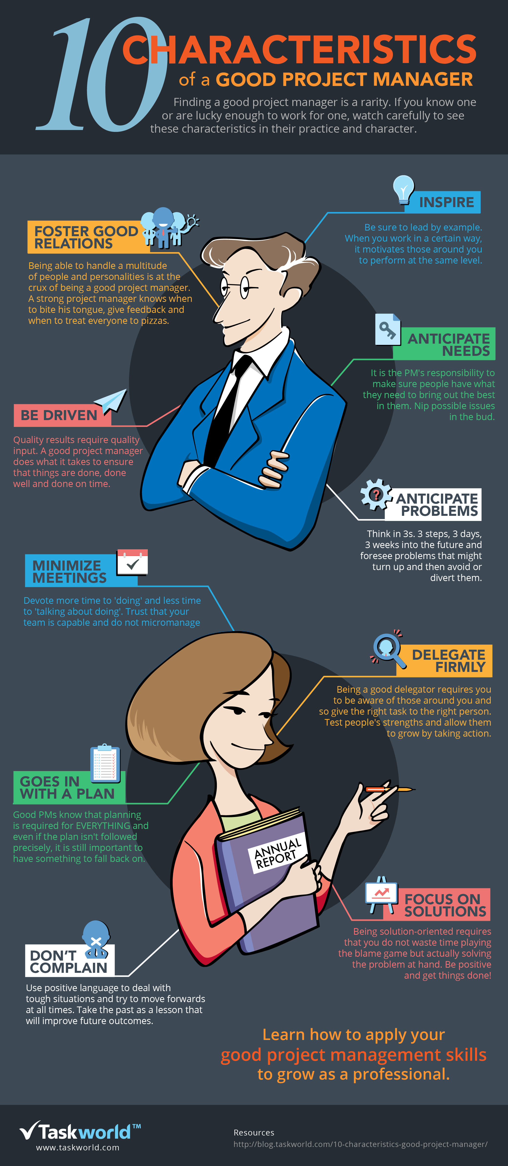 10 Characteristics Of A Good Project Manager Visual