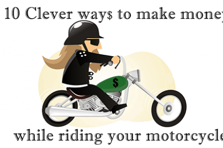 10 Clever ways to make money while riding your motorcycle Infographic