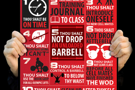 10 Commandments of CrossFit Infographic