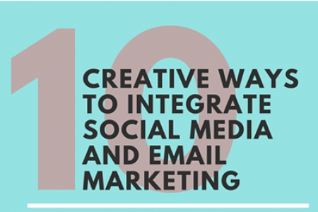 10 Creative Ways to Integrate Social Media & Email Marketing Infographic