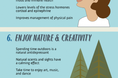 10 Daily Steps for Less Stress Infographic