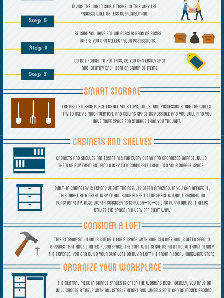 10 Easy Tips to Organize Your Garage Infographic