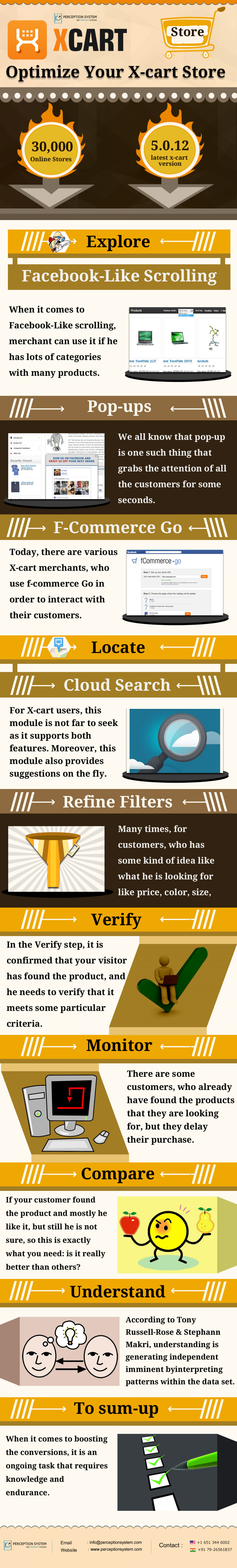 Optimize Your X-Cart Store Infographic