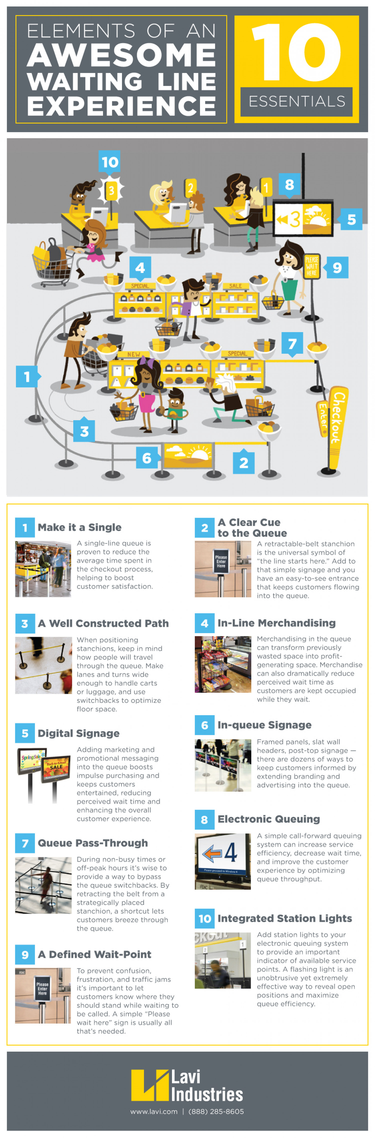 10 Elements of an Awesome Waiting Line Experience Infographic