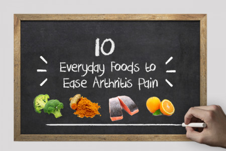 10 Everyday Foods to Ease Arthritis Pain Infographic