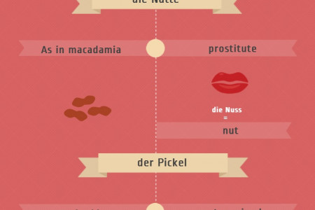 10 Funny False Friends in German Infographic
