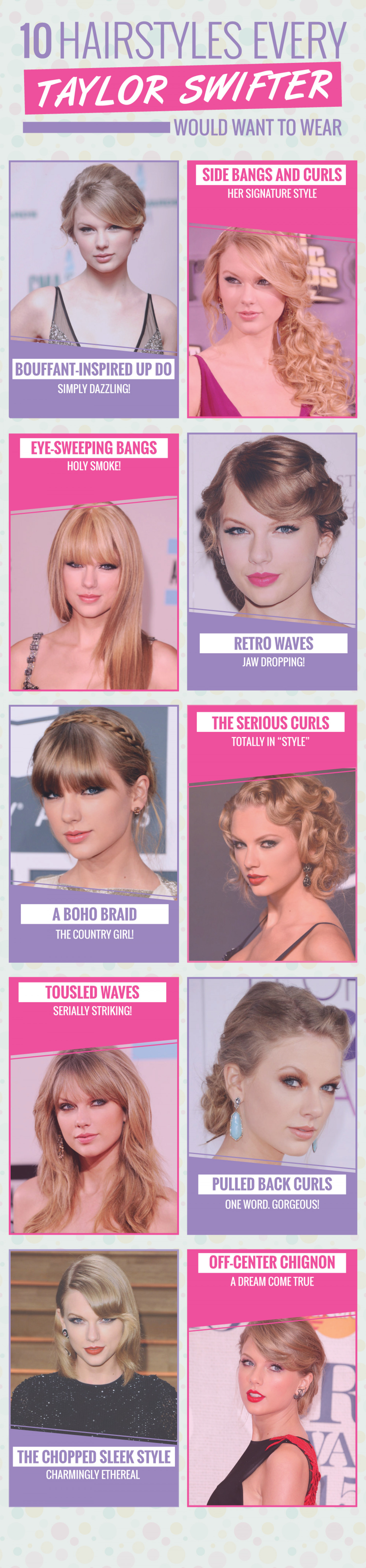 10 Hairstyles Every Swiftie Would Want To Wear! Infographic