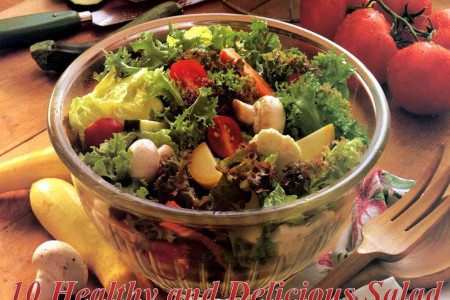 10 Healthy and Delecious Salads Infographic